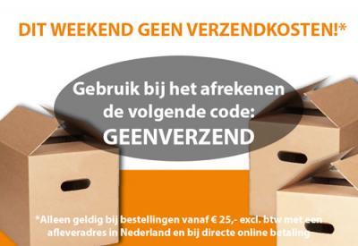 Dit weekend geen verzendkosten!